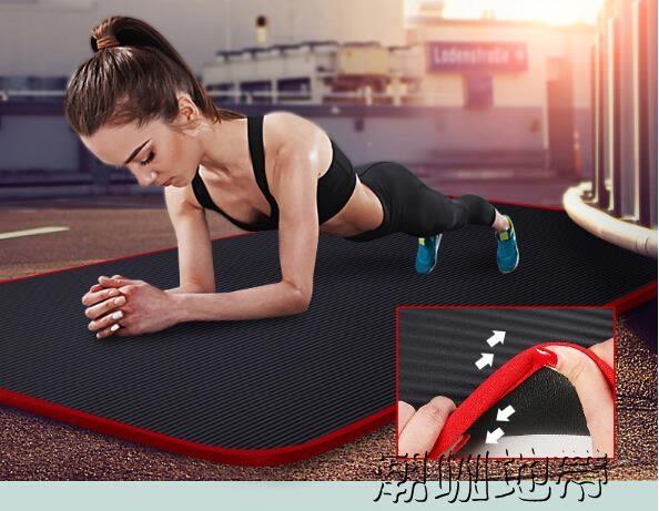 185*80cm瑜伽墊初學者加厚加寬加長女士防滑健身墊無味瑜珈運動墊子三件套【潮咖地帶】