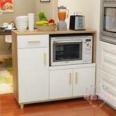 現代簡約餐邊櫃茶水櫃櫥櫃收納碗櫃廚房櫃子儲物櫃多功能微波爐櫃xw