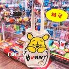 正版 迪士尼 小熊維尼 維尼熊 帆布手提袋 飲料提袋 收納袋 購物袋 維尼款 COCOS DK280