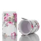 【日本代購】 化妝刷收納筒保護套 EMOCCI 專用 PU 皮革圓柱型文具桶旅行方便攜帶 - 牡丹花