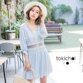 東京著衣-慵懶系質感織帶設計連身褲裙-S.M(171047)