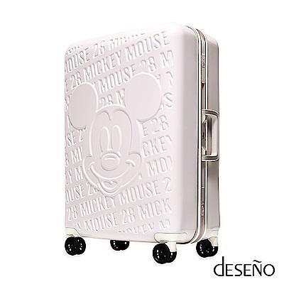 Deseno Disney 迪士尼 MICKEY 米奇 經典復刻 浮雕 多色 鋁框 旅行箱 24吋 行李箱 D2663