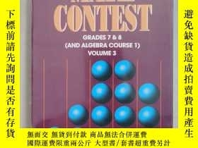 二手書博民逛書店(罕見) MATH CONTESTS-GRADES 7 & 8(AND ALGEBRA COURSE 1) VOL