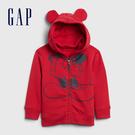 Gap男幼童 迪士尼創意連帽拉鍊休閒上衣 617862-紅色