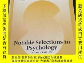 二手書博民逛書店Sources:罕見Notable Selections in Psychology (2nd Edition,英