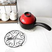 可愛貓咪鐵藝鍋墊創意隔熱墊便攜式耐熱餐墊盤墊防燙托盤「夢娜麗莎精品館」