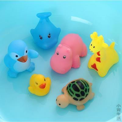 小黃鴨 洗澡玩具 捏捏叫小鴨子洗澡鴨子玩具寶寶洗澡玩具戲水玩具JRM-1394