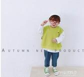 男童長袖上衣-童裝寶寶秋裝衛衣新款韓版男童假兩件上衣小童百搭洋氣打底衫 多麗絲