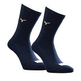 Mizuno Socks [12TX9U5114Q] 棒壘襪 中統襪 背號窗 毛巾底 耐磨 運動 25-27cm 深藍