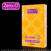 嚴選熱銷 館長推薦 避孕套 ZERO-O-零零超觸感型保險套(12入裝) 黃盒