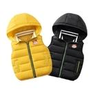 馬甲男童 新款兒童馬甲秋冬季加厚男童女童羽絨棉背心小童寶寶連帽坎肩外穿
