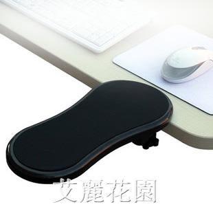 創意電腦手托架桌用鼠標墊椅用鼠標托護腕托手腕墊子可旋轉臂托架 『艾麗花園』