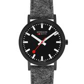 MONDAINE 瑞士國鐵Classic腕錶-36mm/IP黑灰 660464BH