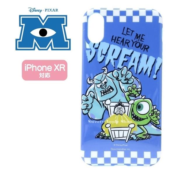 日本正版限定 迪士尼 怪獸大學 毛怪&大眼怪 SCREAM 英字 IPHONE XR 6.1吋 手機殼套 / 手機殼