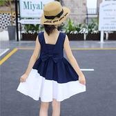 女童裙子夏季洋氣兒童夏款洋裝中大童小女孩公主裙2021夏裝新款 幸福第一站