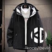 戶外沖鋒衣男女三合一可拆卸兩件套加絨加厚登山服裝外套【Kacey Devlin】