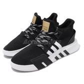 【海外限定】adidas 休閒鞋 EQT Bask ADV 黑 白 金 男鞋 厚底 復古 運動鞋 【PUMP306】 EE5026
