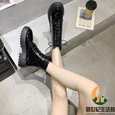 單靴百搭機車靴馬丁靴女短靴瘦瘦靴春秋【創世紀生活館】