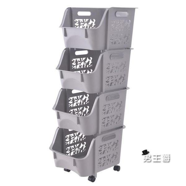 (1111購物節)夾縫置物架塑料層架可行動冰箱縫隙浴室整理收納架廚房帶輪儲物架XW