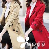風衣外套 春秋季新款女裝韓版修身小個子風衣女大碼中長款大衣外套