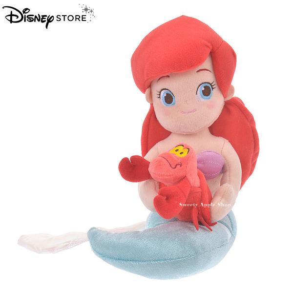 日本 Disney Store 迪士尼商店 限定 小美人魚&賽巴斯丁 THE LITTLE MERMAID 玩偶娃娃