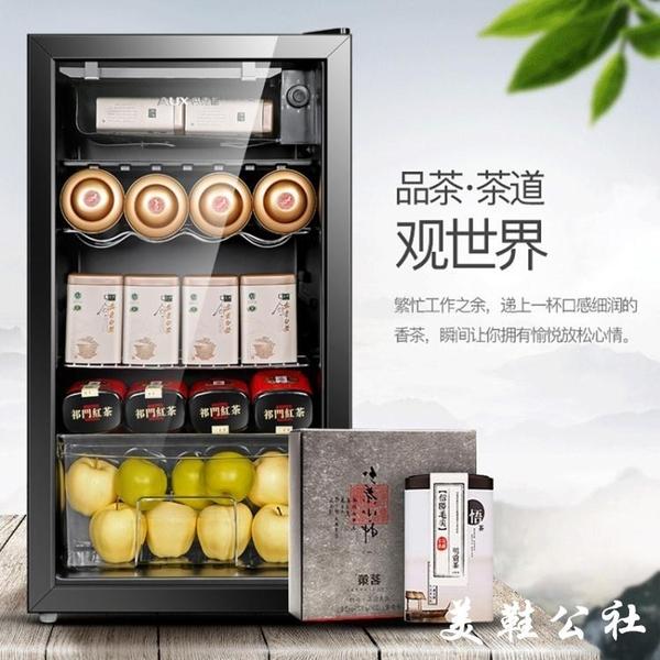 奧克斯紅酒櫃恒溫酒櫃冰吧家用客廳小型冷藏櫃茶葉保鮮櫃單門冰箱【美鞋公社】