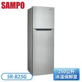 [SAMPO 聲寶]250公升 雙門AIE全平面鋼板變頻系列-漸層銀(K3) SR-B25G