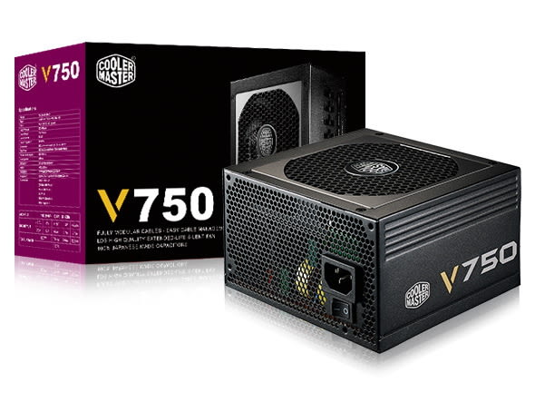 【台中平價鋪】CoolerMaster V750 電競版 金牌80+ 電源供應器 750W / 5年保固 (RS750-AFBAG1)