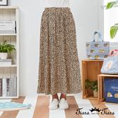 【Tiara Tiara】百貨同步新品aw  鬆緊腰豹紋長裙(米白)