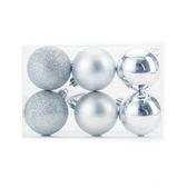 吊飾球6入組 經典銀 6cm