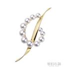 日本中古M家MIK*M0T0音符珍珠胸針胸花 天然真珍珠 高檔優雅兩用 夢幻小鎮