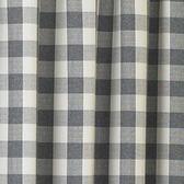 村上抗菌遮光窗簾290x210黑白格