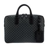 EMPORIO ARMANI 滿版LOGO紋PVC牛革手提包(黑色)102053