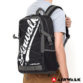 美國 AIRWALK -  撞色字母 雙層護脊輕量筆電後背包-共四色
