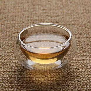 耐熱透明雙層隔熱小茶杯子 305s