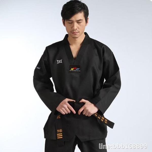 拳击服 玄道--瑾然--條紋跆拳道道服教練服黑色成人成年高端定制訓練服 星河光年