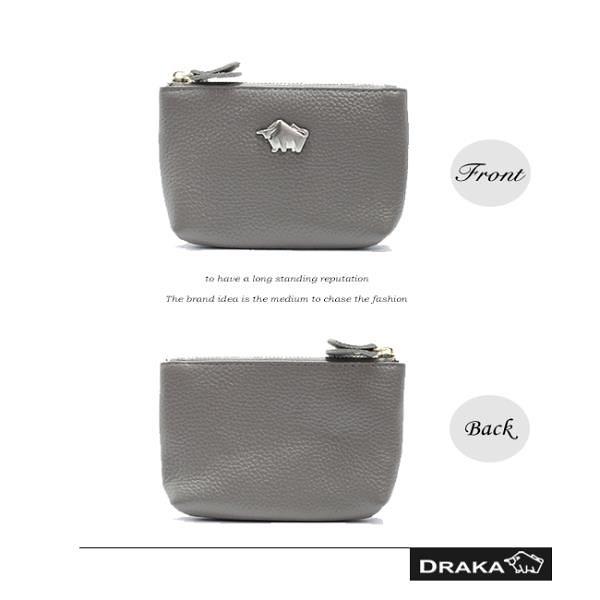 【南紡購物中心】DRAKA 達卡 - 真皮R系列-卡片零錢包-灰