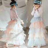 【新年鉅惠】公主蓬蓬裙 兒童網紗半身長裙寶寶紗裙