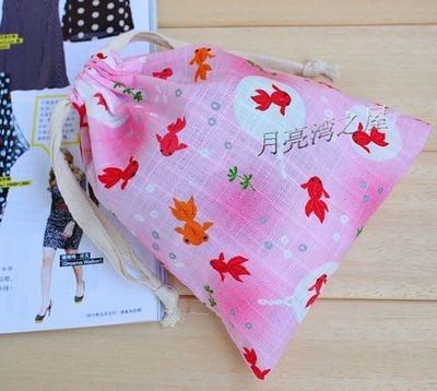 【5個價】月亮扇 人氣商品 超美布藝袋子