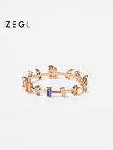 戒指 日繫輕奢戒指女小眾設計韓版簡約冷淡風時尚個性ins食指戒 韓國時尚週