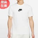 【現貨】Nike NSW 男裝 短袖 休閒 純棉 格子 格紋 黑勾 白【運動世界】CQ5347-101