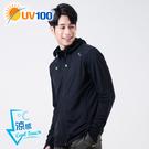 UV100 防曬 抗UV-涼感舒適連帽外...