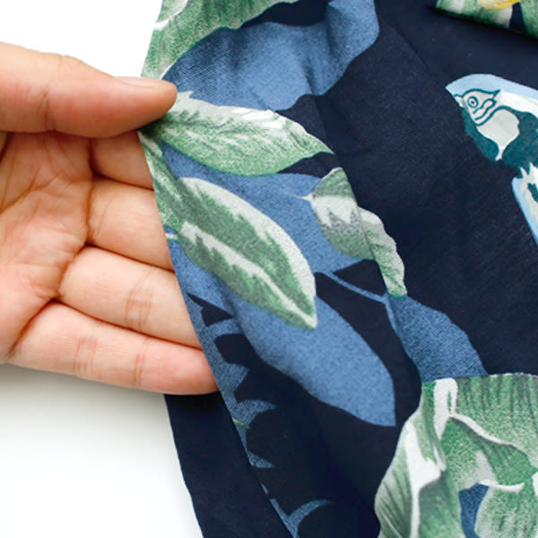 ★現貨★MIUSTAR 度假水彩鸚鵡大花附綁帶棉麻長洋裝(共2色)【NF2910LC】
