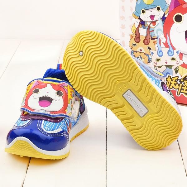 童鞋城堡-妖怪手錶 中童 吉胖喵運動鞋 YW8844 藍