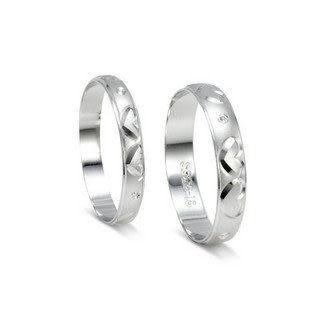 925純銀戒指 銀飾品 情侶戒指 心心相印 單只價