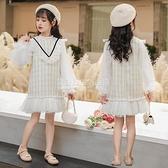 女童小香風公主洋裝春秋裝2020新款兒童洋氣大童小女孩長袖裙子 設計師生活百貨
