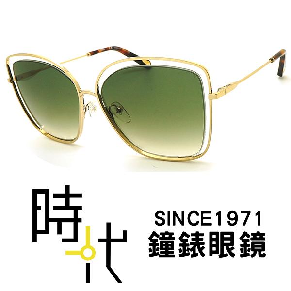 【台南 時代眼鏡 Chloé】太陽眼鏡墨鏡 CE133S 733 法國時尚 橢圓方框墨鏡 漸層綠 金框 60mm