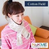 棉花田【NuKME】時尚圍脖保暖巾-29色可選亮桔色