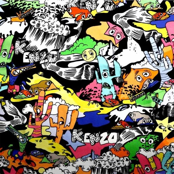 【KENZO】T-shirt MAN 短袖上衣(彩色)  F655TS0434CI MU