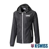 【超取】K-SWISS Color Zip Jacket防風外套-女-黑